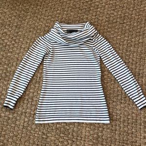 French Connection Acrylic Navy Stripe Sweater